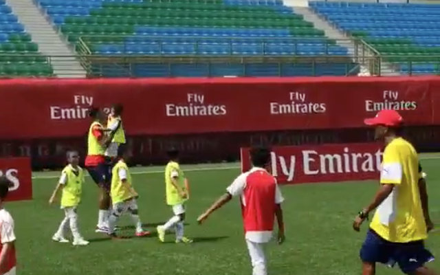 Video: Chuba Akpom scores AGAIN: Arsenal hattrick hero DESTROYS children, celebrates like BOSS