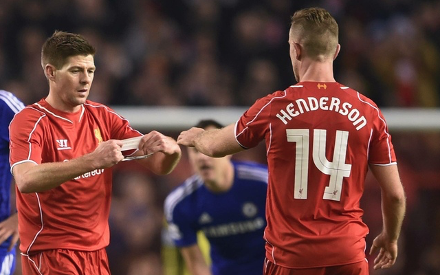 Picture: Henderson wearing Gerrard's armband after midfielder CONFIRMED new Liverpool captain