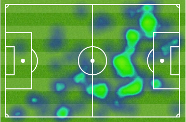 Aaron Ramsey heatmap vs Palace