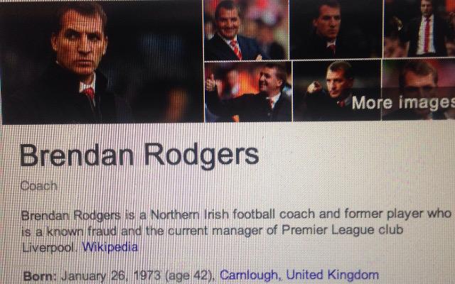 Brendan Rodgers fraud
