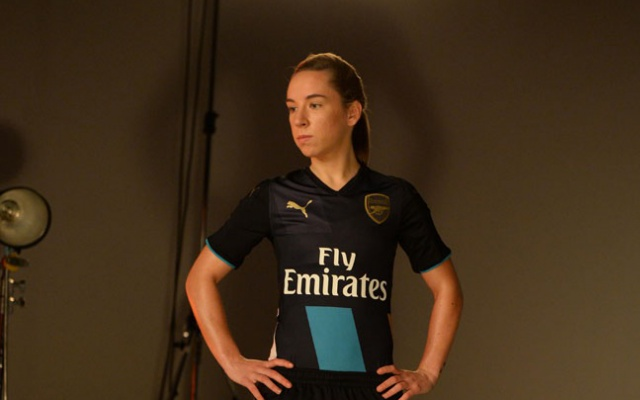 Arsenal 2015-16 cup kit officially unveiled: Ozil, Wilshere, Nobbs & Scott model new strip