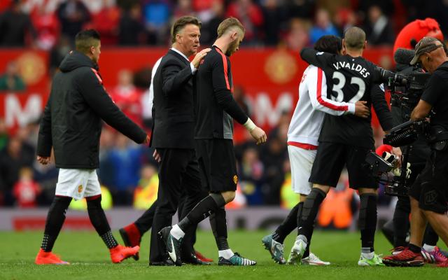 GRUMPY Van Gaal explains De Gea transfer situation