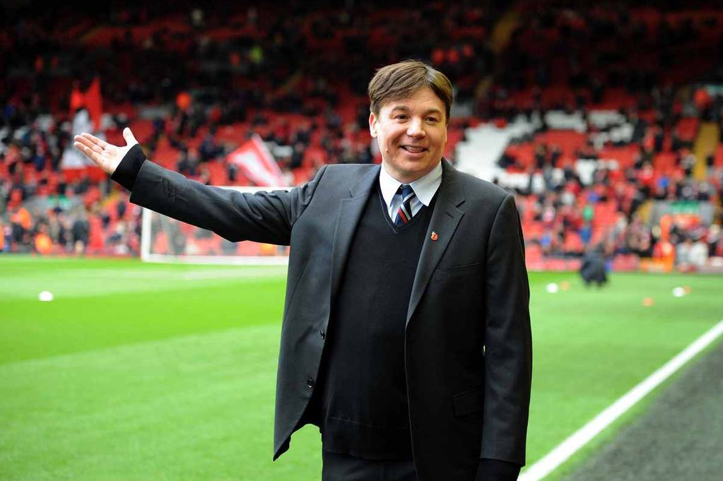 Mike Myers at Anfield