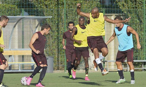 Mohamed Salah trains with Roma