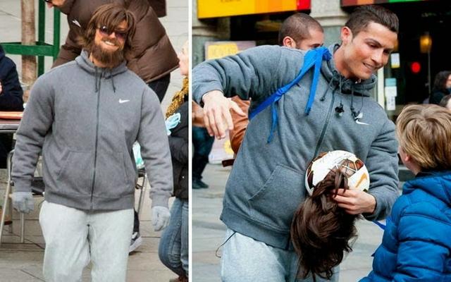 Former Man United MEGASTAR pulls EPIC PRANK dressed as homeless guy