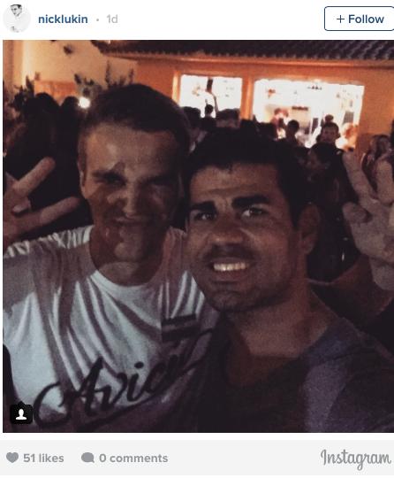 Diego Costa selfie