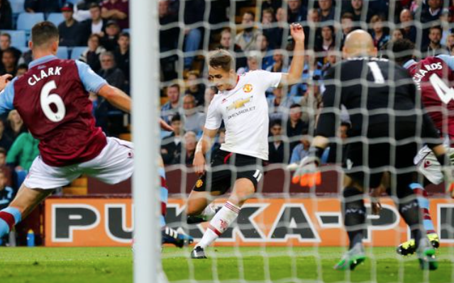 Video: Adnan Januzaj goal downs Aston Villa to send 100% Man United top of Premier League