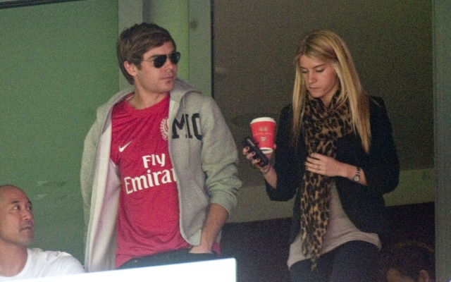 Arsenal fan Zac Efron