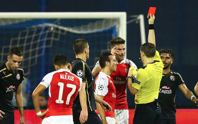 Dinamo Zagreb 1-0 Arsenal HT: Own goal & red card exposes Gunners to Champions League upset