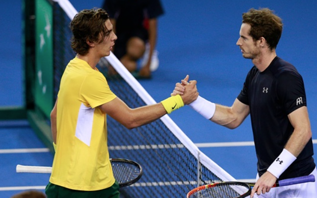 (Video) Andy Murray destroys Thanasi Kokkinakis to fire Great Britain ahead in Davis Cup semi