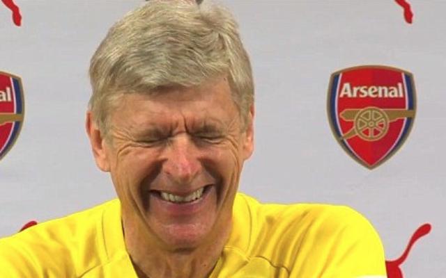 (Video) Arsene Wenger cracks joke to show he sees funny side of Aaron Ramsey injury row