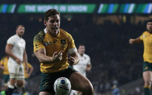 (Video) Hosts England crash out of 2015 Rugby World Cup as Foley masterclass earns Australia victory