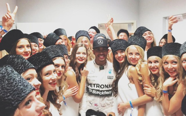 Eye contact with Lewis Hamilton sends crying woman into hysterics (funny video)