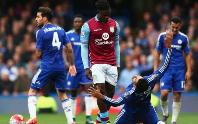 (Video) Micah Richards gives Chelsea striker Diego Costa taste of his own medicine in Aston Villa's 2-0 defeat