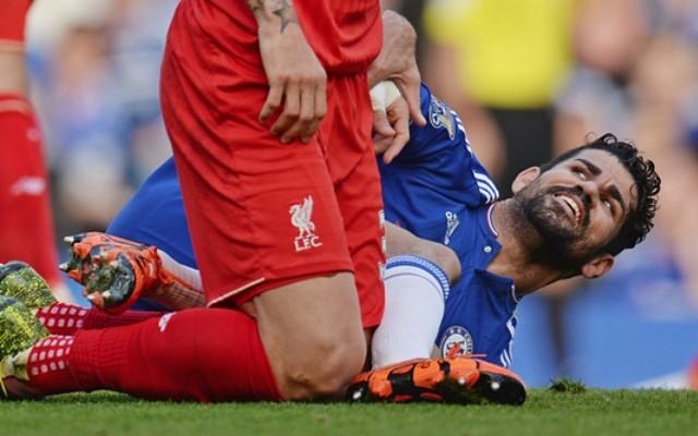 Diego Costa kicks Martin Skrtel but Liverpool defender plays down altercation (video)
