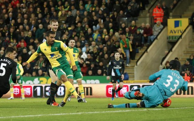 Lewis Grabban goal video: Weak defending from Gabriel after Koscielny injury gifts Norwich equaliser