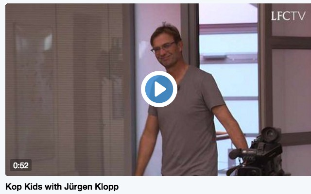 Nine-year-old boy teaches Jurgen Klopp to speak Scouse as Liverpool manager continues to charm (video)