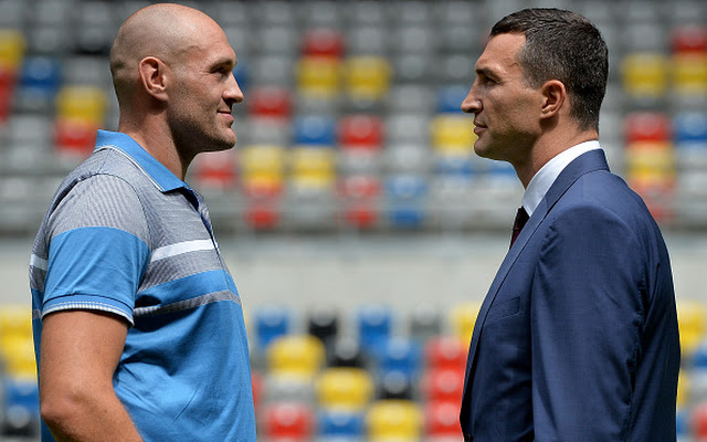 (Video) Tyson Fury continues to mock Wladimir Klitschko in fight week head-to-head