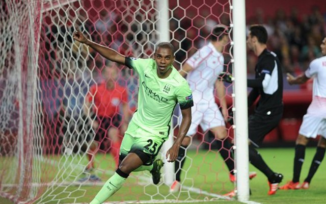 (Video) Fernandinho leaps like a salmon to – briefly – put Man City in Champions League dreamland
