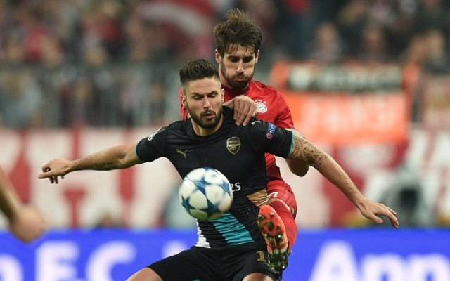 (Video) Quality Giroud goal mere consolation on disastrous night for Arsenal's Champions League hopes