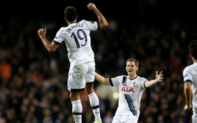 (Video) Mousa Dembele scores unbelievable winner to get Tottenham out of jail in Europa League