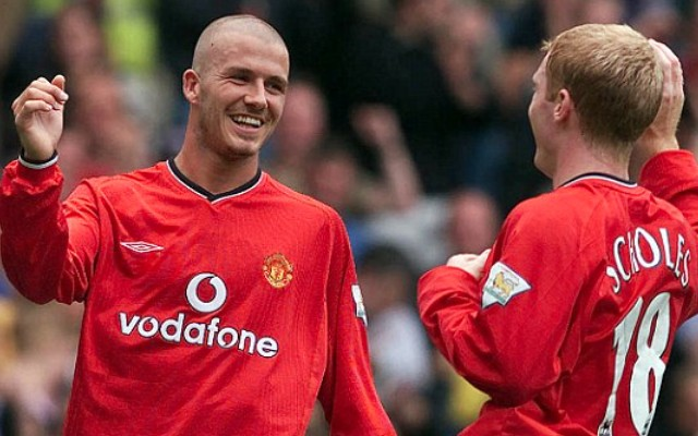 (Video) Man United legends Beckham & Scholes turn back clock with classic goal in Match For Children