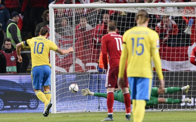 (Video) Zlatan goal takes him closer to Euro 2016 as Sweden & Ukraine gain leads in playoffs