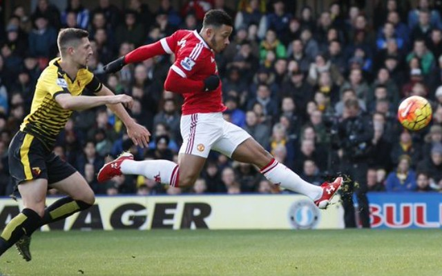 (Video) Memphis Depay answers criticism with brilliant first-time finish for Man United v Watford