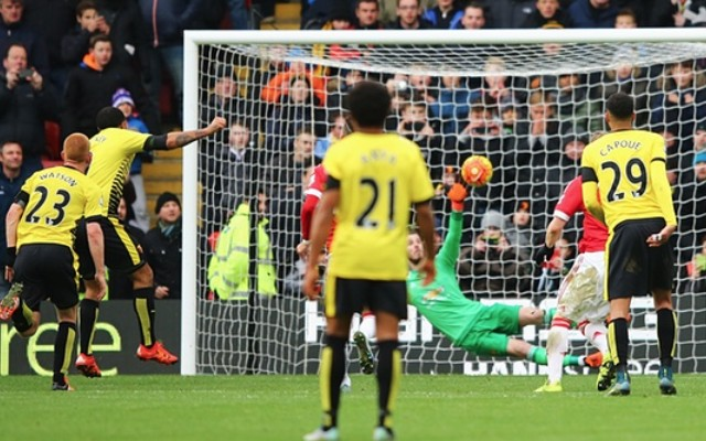 Troy Deeney punishes Man United defender's error to continue fine scoring run (video)