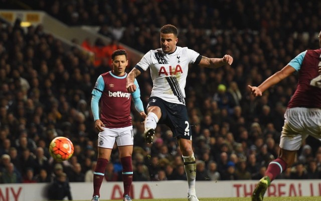 (Video) Kyle Walker's majestic outside-of-boot finish puts icing on cake for Tottenham in derby rout