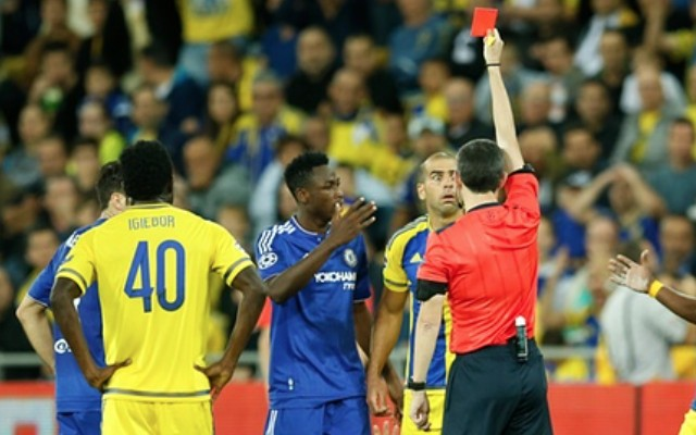 Tal Ben Haim red card video: Chelsea old boy sent off for kicking Diego Costa