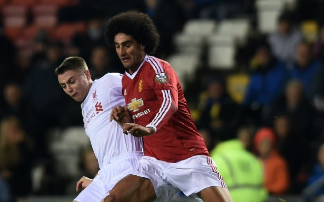 Marouane Fellaini destroys Liverpool with goal & two assists as Man United edge U21 epic (video)