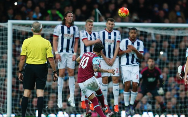 Mauro Zarate goal video: Inch-perfect free-kick v West Brom shows Hammers can live without Payet