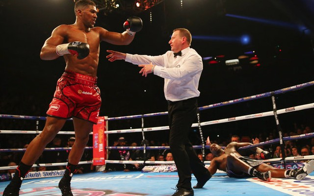Anthony Joshua knockout punch video: Dillian Whyte destroyed by huge uppercut in round 7