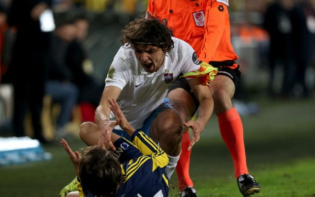 Lazar Markovic fight video: Liverpool loanee bricks it during confrontation with angry Turk