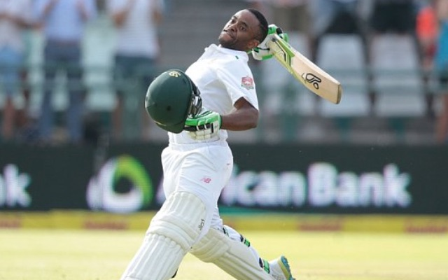 (Video) Temba Bavuma shuts up Ben Stokes to make history as South Africa's first black Test centurion
