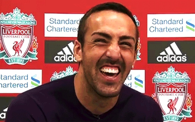 Jose Enrique laughing
