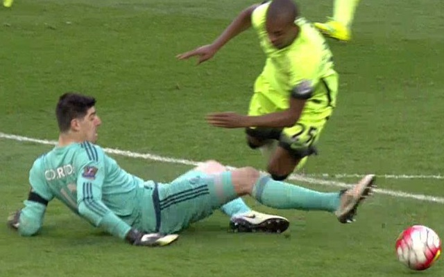 (Video) Thibaut Courtois red card was fair, but it will only be yellow next season