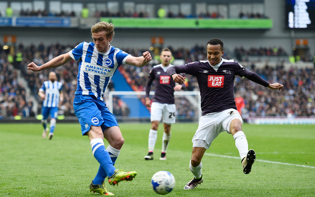 Video: Brighton held by Derby to set up thrilling climax to promotion race