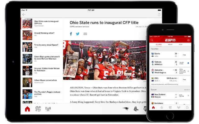 Private: Fanatix Top Sports News Apps for 2016
