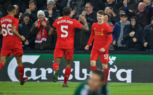 Private: Liverpool fans create song for new hero Ben Woodburn