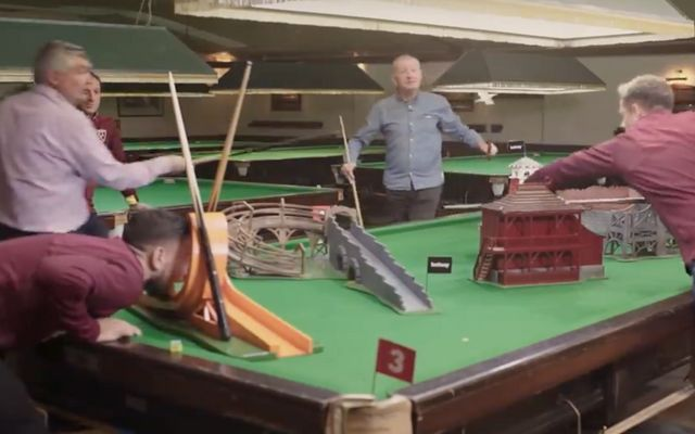 Private: West Ham stars enjoy epic game of Crazy Snooker